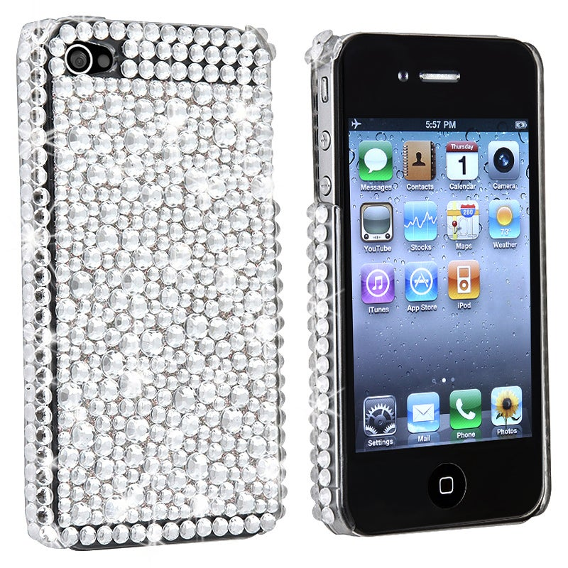 BasAcc Silver Diamond Snap-on Case Version 2 for Apple iPhone 4/ 4S - Thumbnail 0