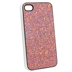 INSTEN Light Pink Bling Snap-on Phone Case Cover for Apple iPhone 4/ 4S - Thumbnail 1