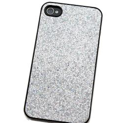 BasAcc Silver Bling Snap-on Case for Apple iPhone 4/ 4S - Thumbnail 2
