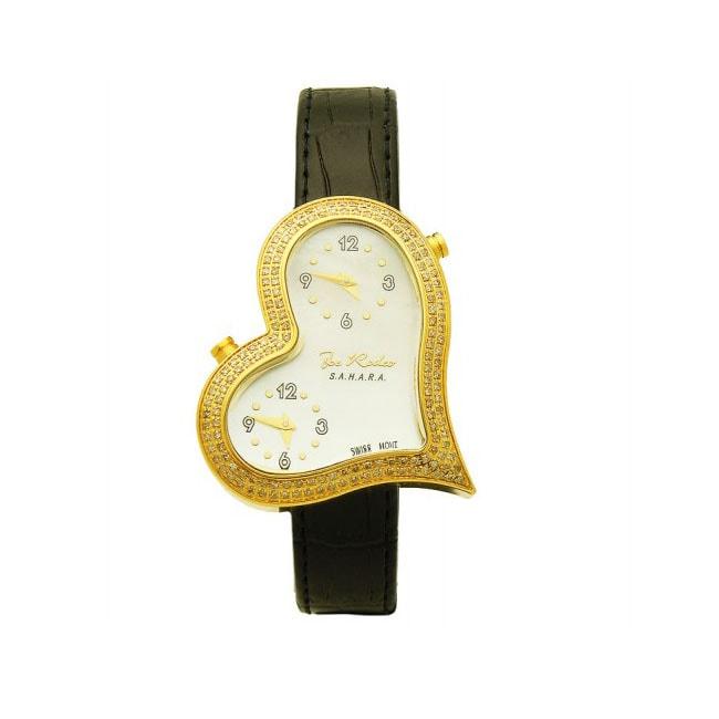 Joe Rodeo Women's Heart Dual-time Diamond Watch