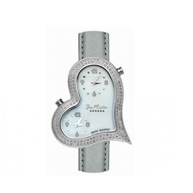 Joe Rodeo Women's Heart Dual-Time Quartz Diamond Watch