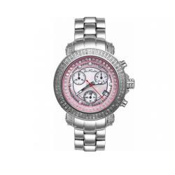 Joe Rodeo Women's Rio Pink Mother-of-Pearl Dial Diamond Watch