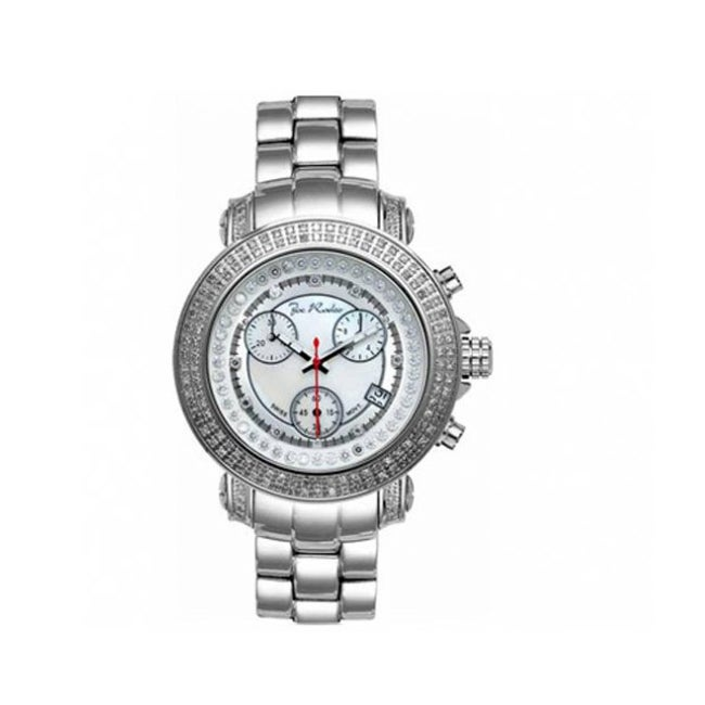 Joe Rodeo Women's Rio White Mother-of-Pearl Dial Diamond Watch