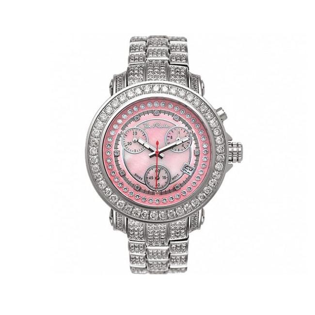 Joe Rodeo Women's Rio Pink Mother-of-Pearl Chronograph Diamond Watch