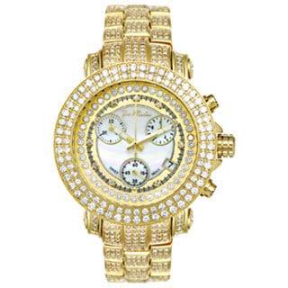 Joe Rodeo Women's Rio Yellow Mother-of-Pearl Diamond Watch