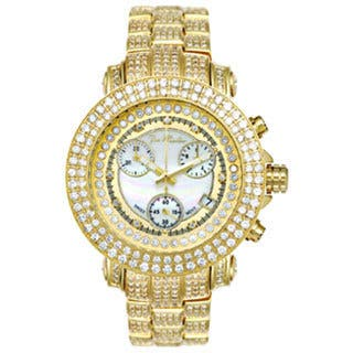 Joe Rodeo Women's Rio Yellow Mother-of-Pearl Diamond Watch|https://ak1.ostkcdn.com/images/products/6658576/P14218692.jpg?impolicy=medium