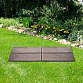 Brown Realistic Rock Style 4-piece Garden Path
