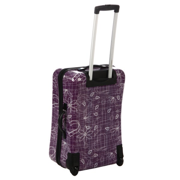 Benzi Printed 2-piece Hardside Spinner Checked/Carry On Luggage Set