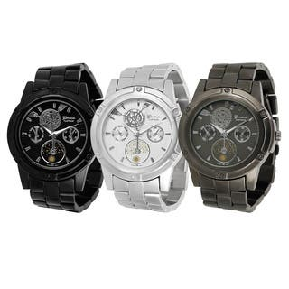 Geneva Platinum Men's Chronograph-style Link Watch|https://ak1.ostkcdn.com/images/products/6660367/P14220248.jpg?impolicy=medium