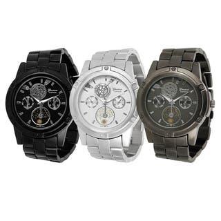 Geneva Platinum Men's Chronograph-style Link Watch|https://ak1.ostkcdn.com/images/products/6660367/P14220248.jpg?impolicy=medium