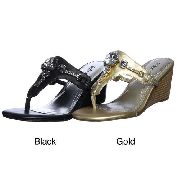 Reba Women's 'Riley' T-strap Wedge Sandals