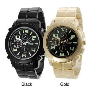 Geneva Platinum Glow in the Dark Link Watch