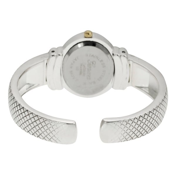 Geneva Platinum Women's Mother of Pearl Cuff Watch
