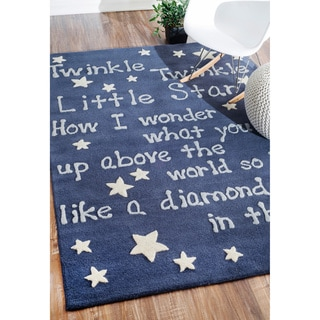 nuLOOM Handmade Kids Lullaby and Stars Wool Rug (5' x 7')