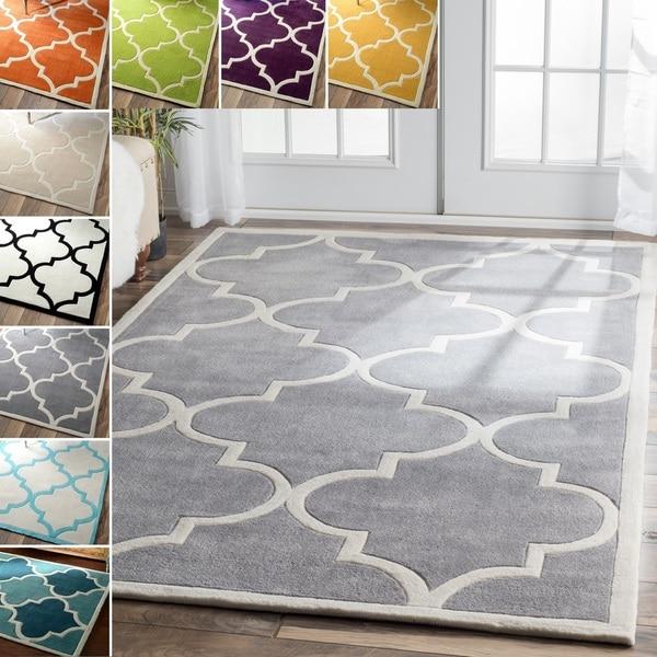 nuLOOM Handmade Luna Moroccan Trellis Rug (5' x 8')