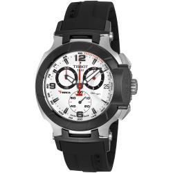 Tissot Men's 'T Race Chrono' Black Rubber Strap Watch