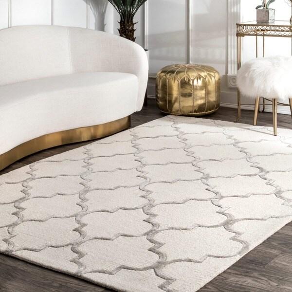 Nuloom Handmade Moroccan Trellis Faux Silk Wool Rug 8 X27 3 X 11