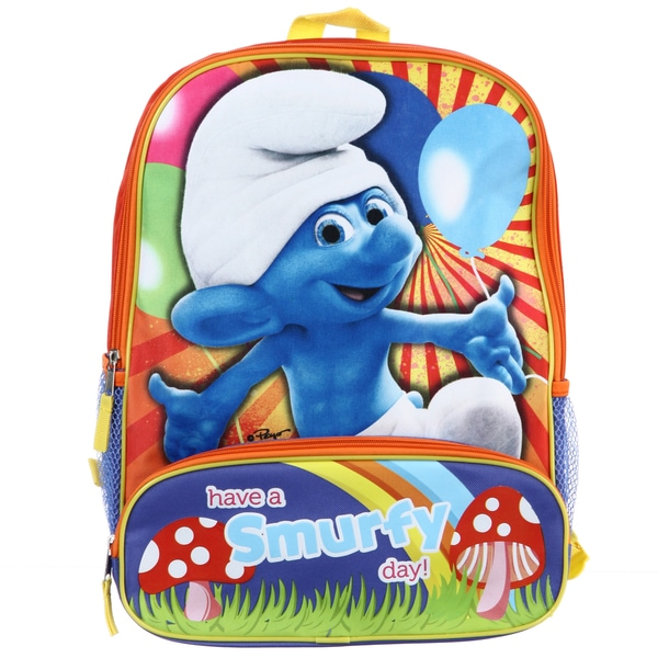 Smurfs 'Have a Smurfy Day' 16-inch Kid's Backpack