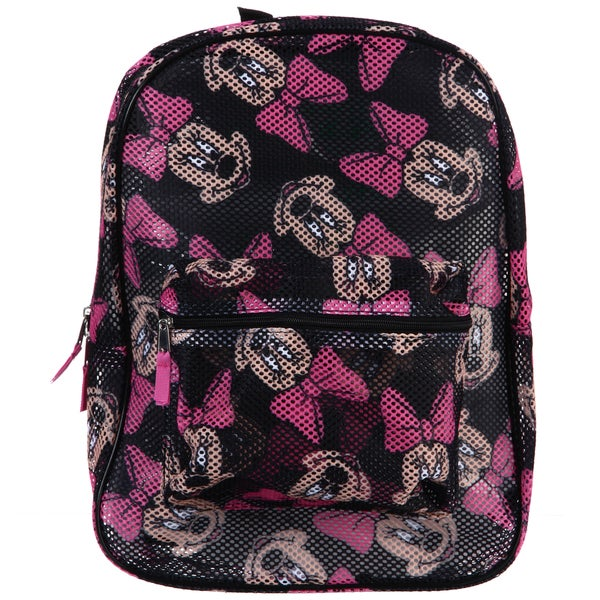 d9378b9cbd2 Shop Disney Minnie Mouse All Over Print Mesh Backpack - Free ...