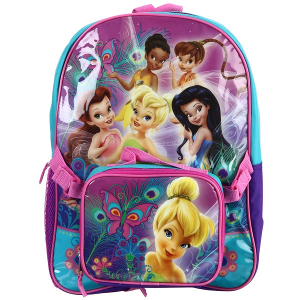 Disney Fairies 15-inch Backpack with Lunch Bag