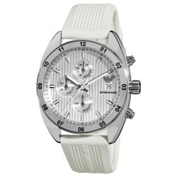 Emporio Armani 'Sport' AR5929 Men's White Silicone Chronograph Watch