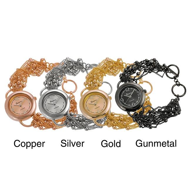 Geneva Platinum Women's Multi-strand Toggle Watch