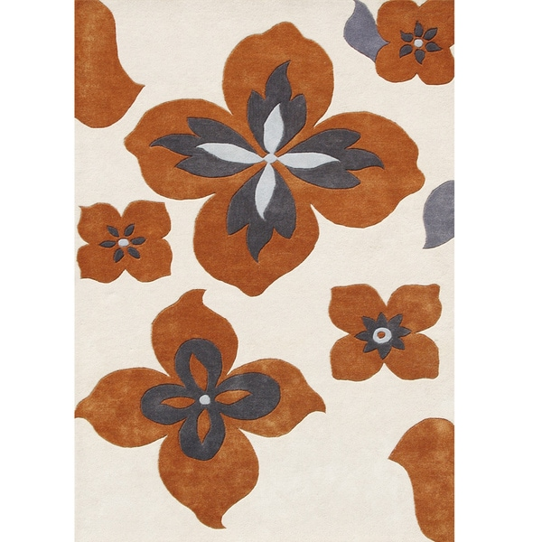 Alliyah Handmade Lambs Wool New Zealand Blend Rug (5' x 8')