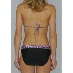 Island Love Women's Pink Animal Print Bikini - Thumbnail 1