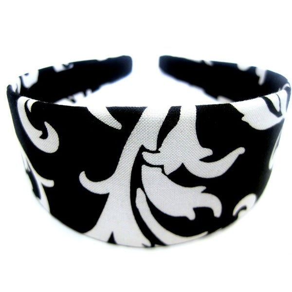 Crawford Corner Shop Black and White Floral Headband