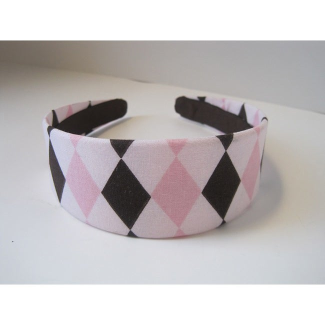 Crawford Corner Shop Pink and Brown Diamond Headband