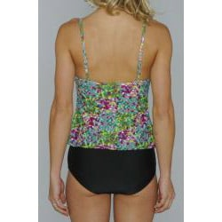 Island Love Young Missy 'Green Digital' Faux Tankini Swimsuit - Thumbnail 1