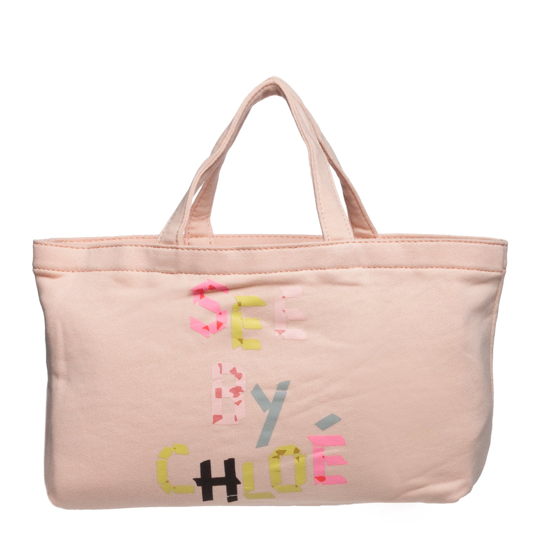 See by Chloe 9S7162 N173 533 Peach Mini Canvas Tote Bag