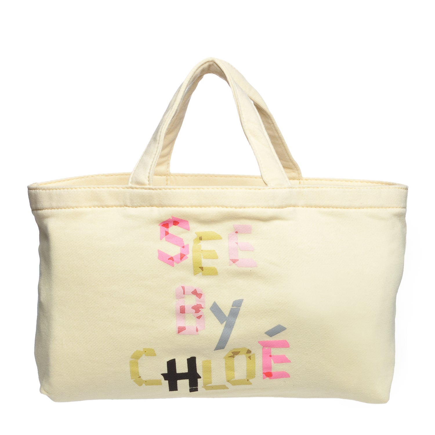 See by Chloe 9S7162 N173 222 Yellow Mini Canvas Tote Bag