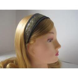 Crawford Corner Shop Black and Gold Headband - Thumbnail 1