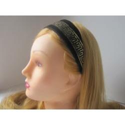 Crawford Corner Shop Black and Gold Headband - Thumbnail 2