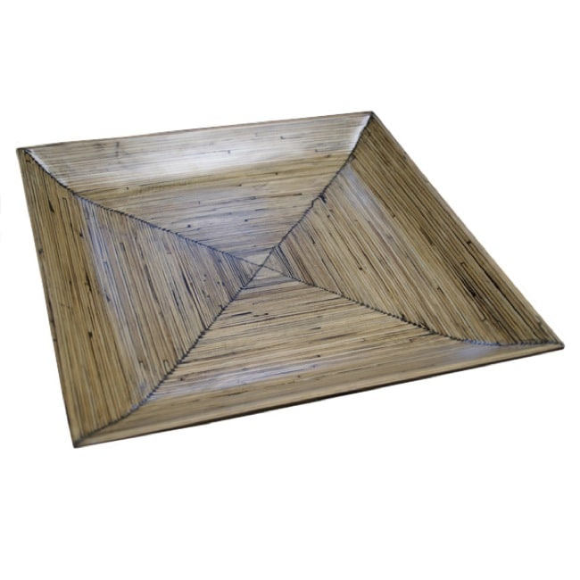 Natural Bamboo Square Platter