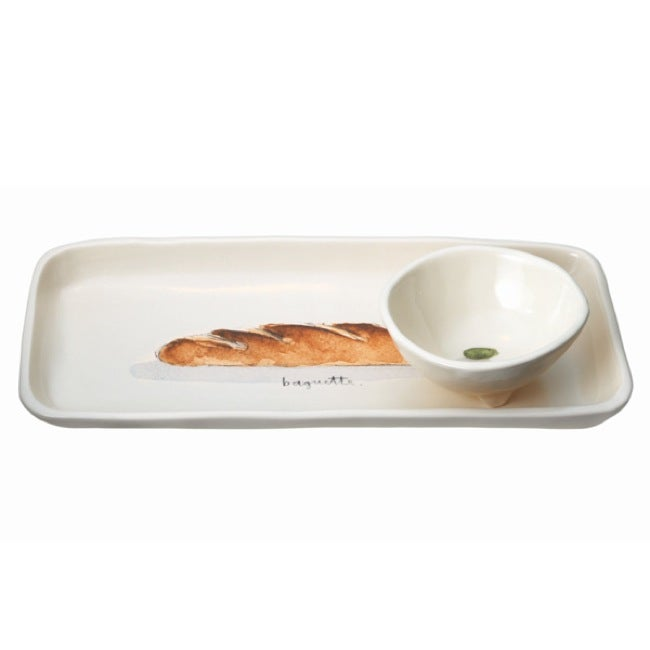 Hamptons Baguette Tray and Olive Bowl
