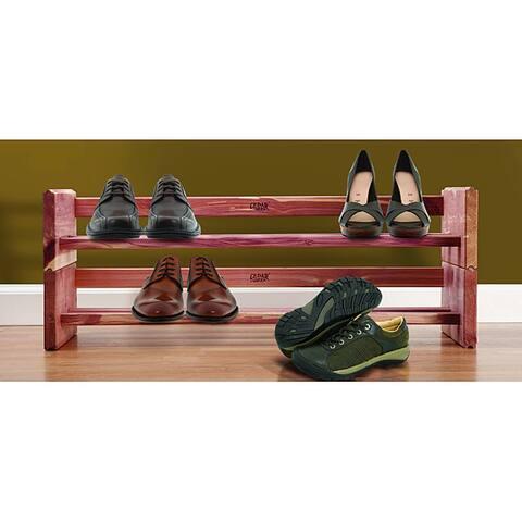 Cedar Two Tier Shoe Rack