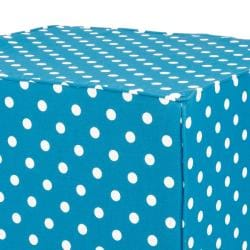 Brooklyn 22-inch Square Turquoise Polka Dot Indoor/Outdoor Ottoman