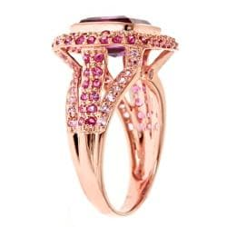 D'Yach D'yach Rose Gold over Silver Amethyst, Pink Sapphire and Thai Ruby Ring - Thumbnail 1