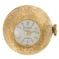 Pre-owned Gold Filled Antique Ball Clock Charm Pendant