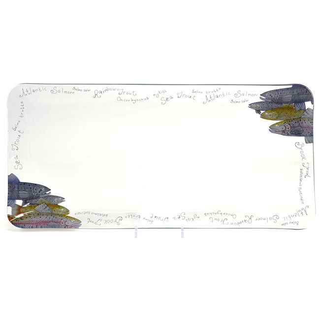 Fish-a-licious Large Tempered Glass Platter