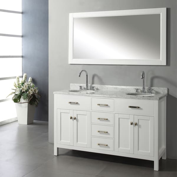 Ashford 60 Inch Double Sink Bathroom Vanity Set Free Shipping Today Overstock 14220802