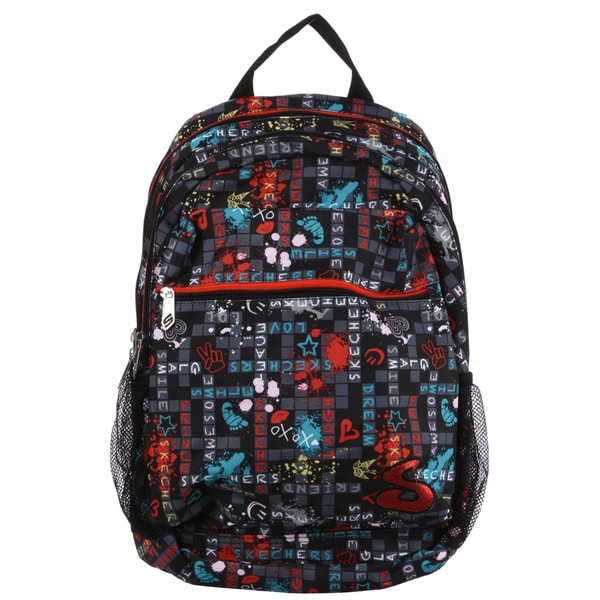 Skechers SK21331-SC-MU Crosswordz 17.75-inch Kid's Backpack