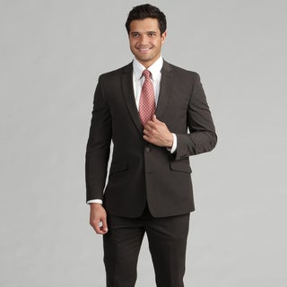 Kenneth Cole Reaction Men's Brown Slim Fit Suit