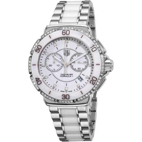 Tag Heuer Women's 'Formula 1' White Diamond Dial Chornograph Watch
