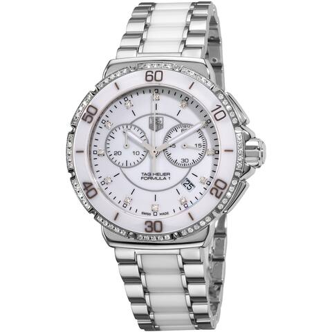 Tag Heuer Women's CAH1213.BA0863 'Formula 1' Diamond Two-Tone Stainless Steel and Ceramic Watch