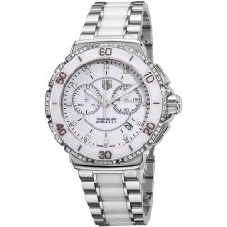 Tag Heuer Women's 'Formula 1' White Diamond Dial Chornograph Watch