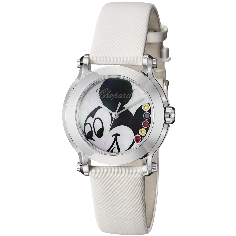 Chopard Women's 278509-3045 'Happy Sport Round' Mickey Mouse Dial Quartz Watch