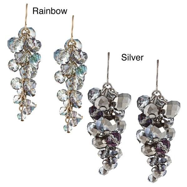 Kenneth Cole Silvertone Linear Hoop Earrings